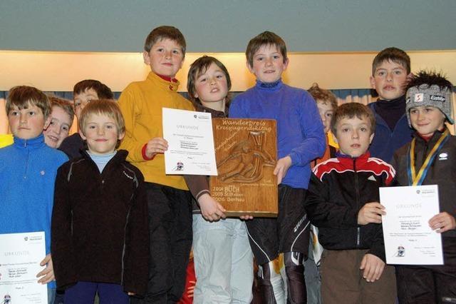 250 Schüler maßen sich im Slalom