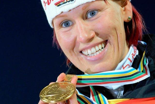 Biathlon: WM-Gold für Kati Wilhelm