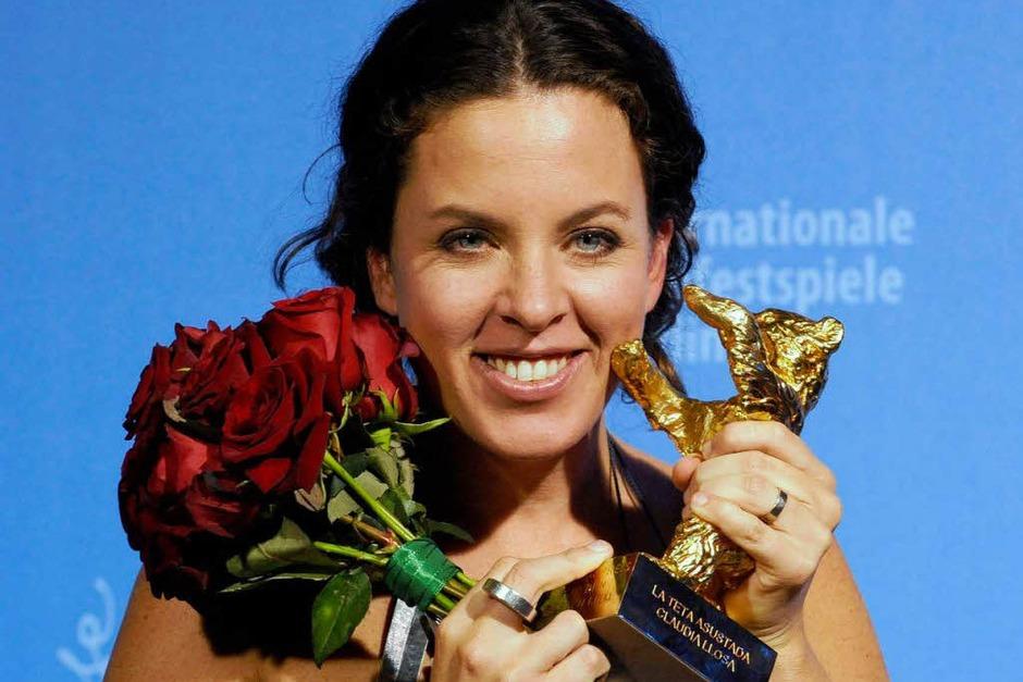 """Claudia Llosa sahnte für ihren Film """"La Teta Asustada"""" den Goldenen Bären ab. (Foto: dpa)"""