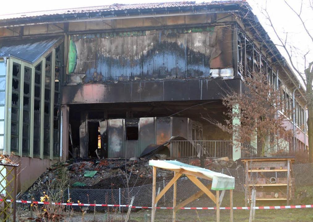 Rußgeschwärzt: Einige Räume wurden ein Raub der Flammen  | Foto: Patrick Seeger