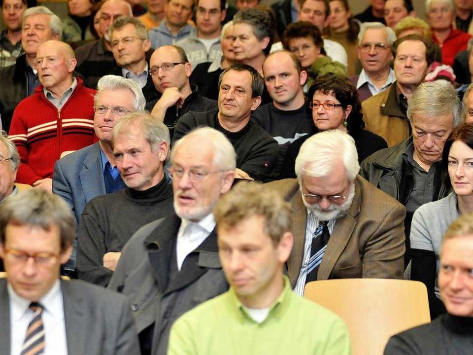 Großes Interesse: 200 Bürger und Bürge... Infoveranstaltung zur Altlast Kappel.  | Foto: Ingo Schneider