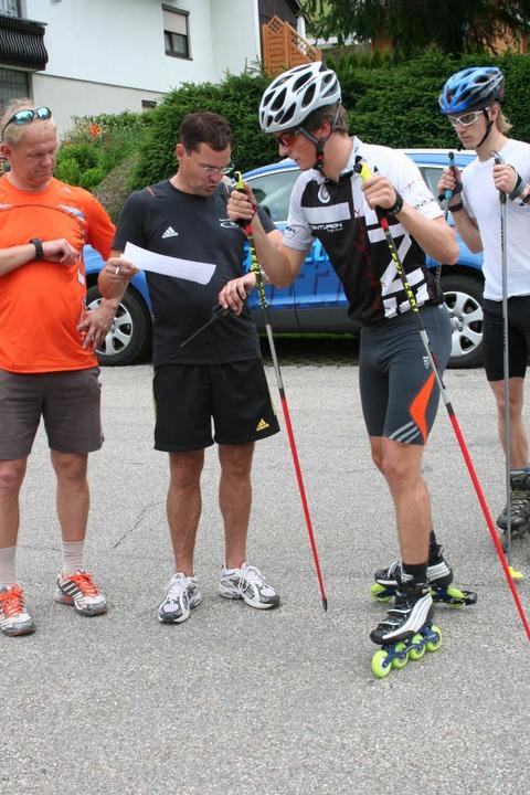 Zusammen mit den Spezialspringern beim...ich und Bundestrainer Hermann Weinbuch  | Foto: Dieter Maurer