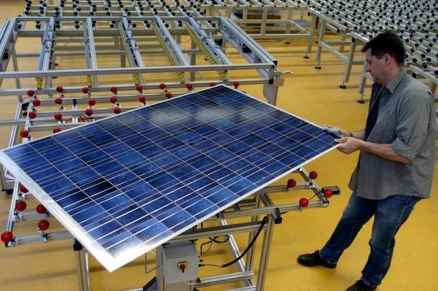Ausrüster der Solarfabriken