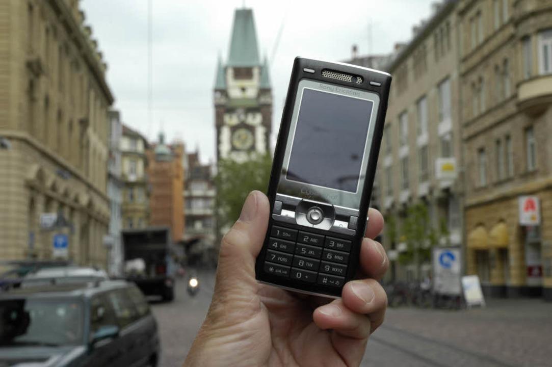 Freiburg und der Handyboom: Wer in der...r auch die exklusiven Geschäftslagen.     Foto: Brigtte Sasse
