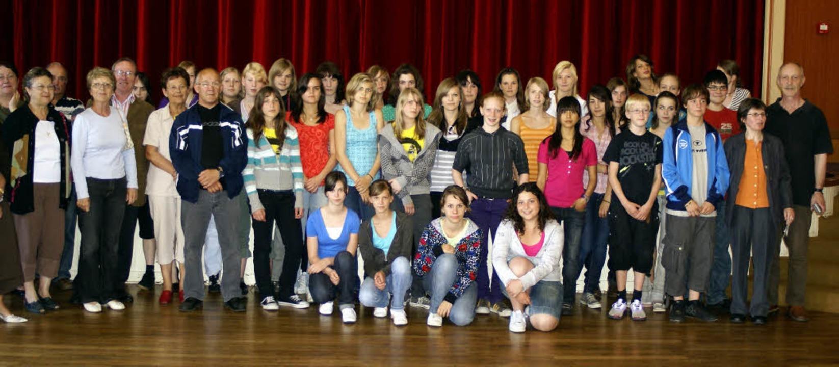 Herzlich empfangen wurden die Schüleri...m Austauschaufenthalt in Le Croisic.    | Foto: PRIVAT