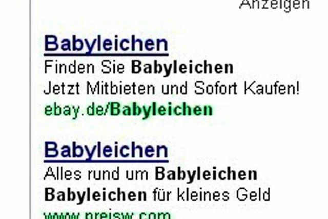 Babyleichen bei Ebay?