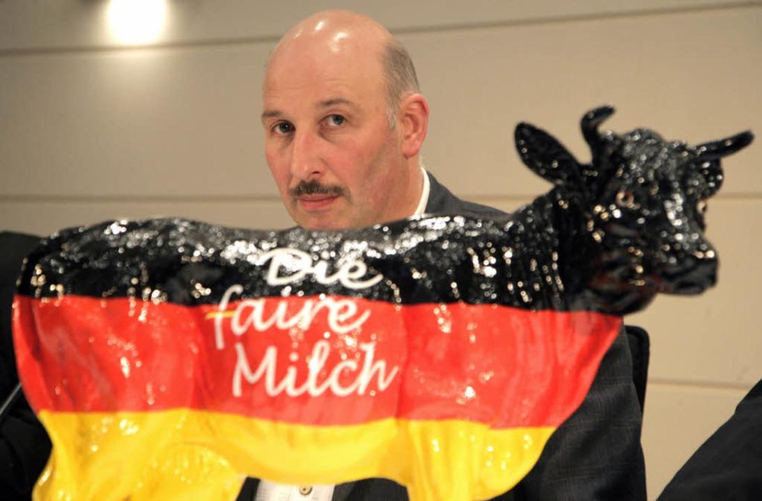 Romuald Schaber, der Vorsitzende des B...hviehhalter, kämpft für höhere Preise.    Foto: dpa