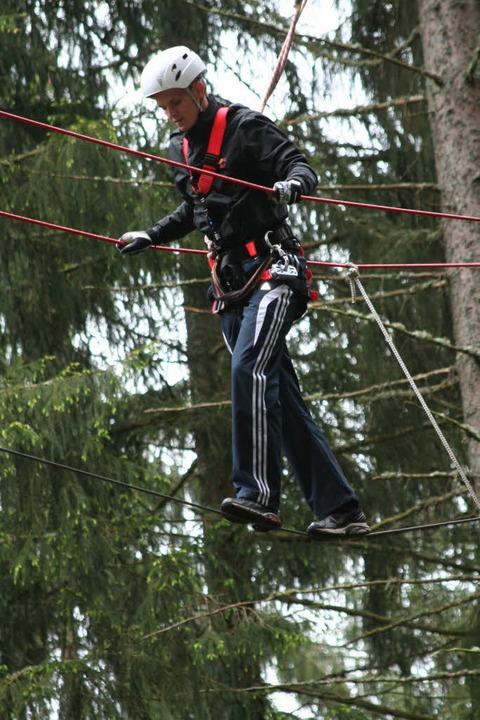 Wackelkandidat auf dem Hochseil:    Th...eltcup-Gesamtsieger der Skispringer     | Foto: Dieter Maurer