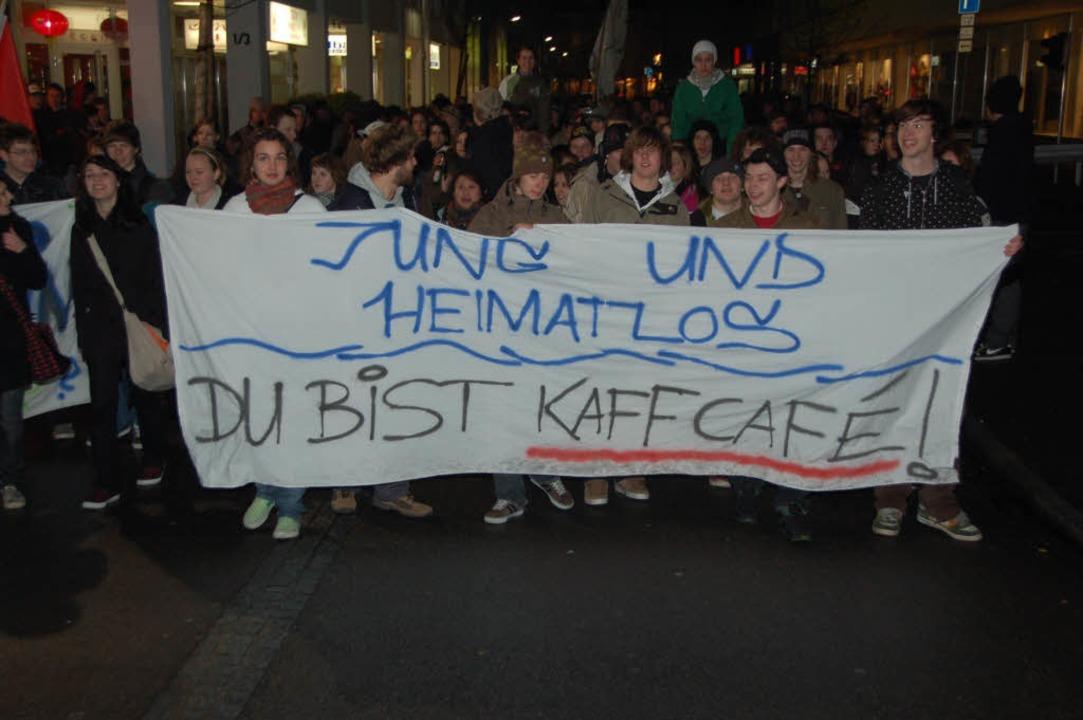Jugendliche demonstrierten im Februar ...rt aber eine Betreuung anwesend sein.     Foto: Pascal Waldszus