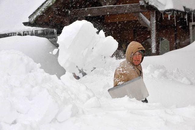 Polizei ist rund ums Schuttertal im Schneeeinsatz