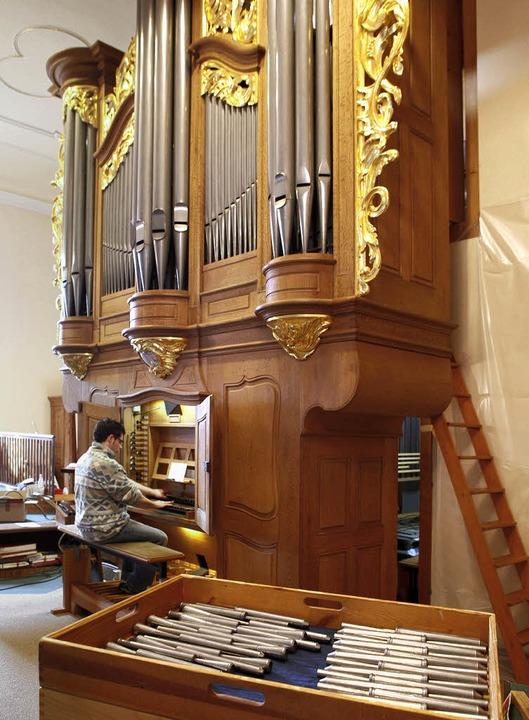 Herausragendes Instrument in der Regio...n der Seelbacher  Kirche St. Nikolaus   | Foto: fotos: christoph breithaupt