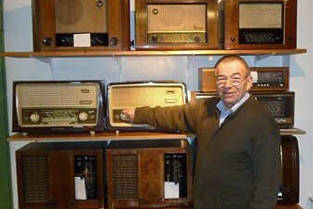 Ein Museum mit alten Radios, die funktionieren