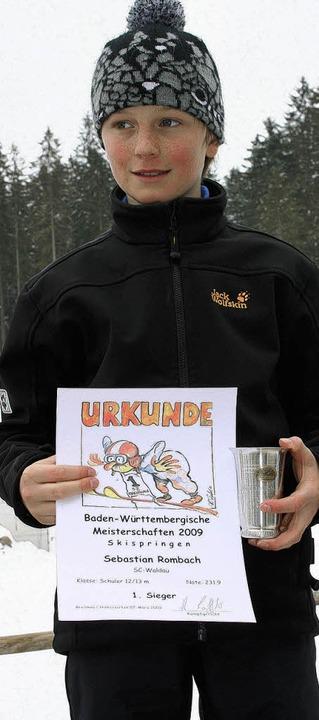 Hat seinen Titel bei den Schülern13/14...idigt: Sebastian Rombach vom SC Waldau  | Foto: Maurer