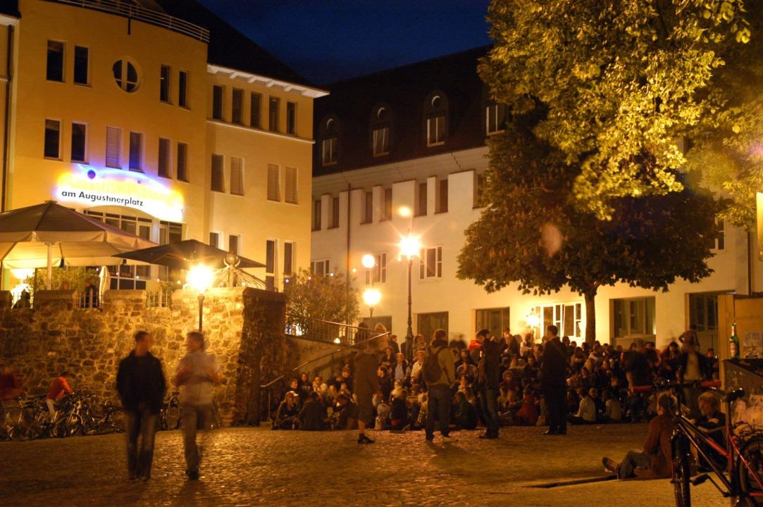 Der Augustinerplatz ist zuständig für die italienischen Momente in Freiburg.    Foto: Thomas Kunz