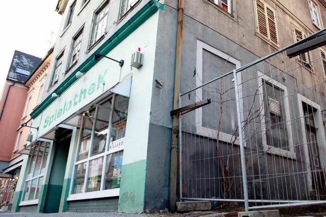 Marodes Hinterhaus in Lahr wird abgerissen
