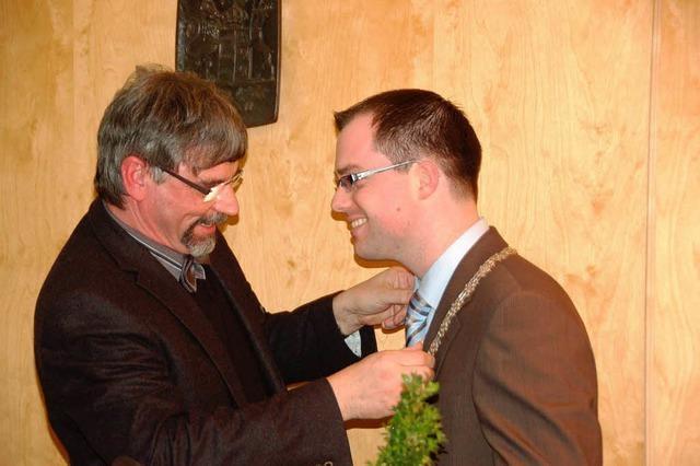 Ulrich Krieger als Bürgermeister vereidigt
