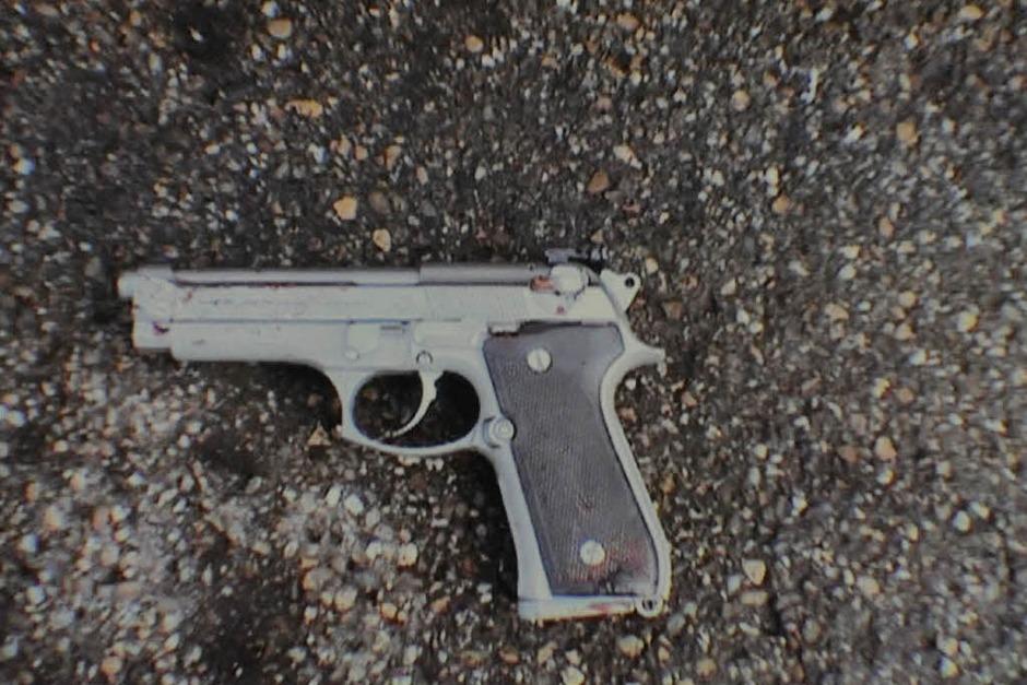 Die Tatwaffe: eine Beretta 9mm (Foto: dpa)