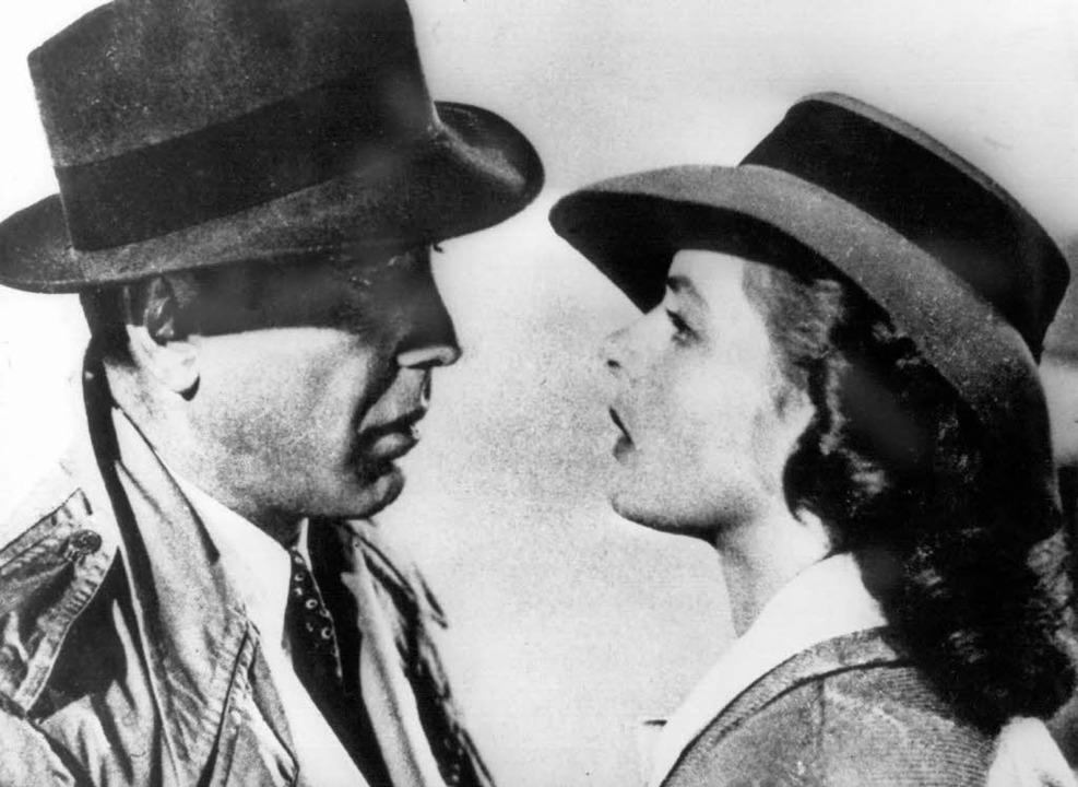 Humphrey Bogart als Richard 'Rick&...d Ingrid Bergman als Ilsa Lund Laszlo.  | Foto: dpa