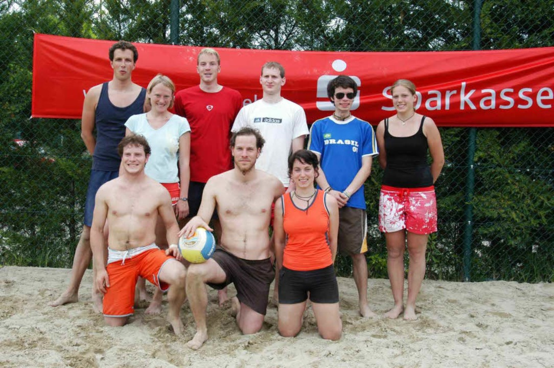 "Die ""Beachmonster"" des TuS...rste Turnier der Beach-Fun-Cup-Serie.     Foto: Daniel Hebding"