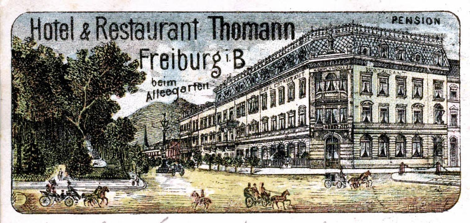 Der Blick in die frühere Werderstraße ...nnhaus des Deutschen Caritasverbandes.  | Foto: Archiv Manfred Gallo