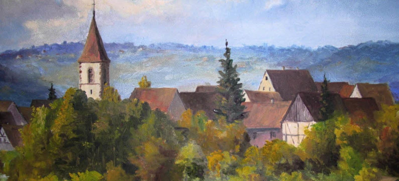 Karl Rösch hat seine Heimatgemeinde vielfach porträtiert.     | Foto: Privat
