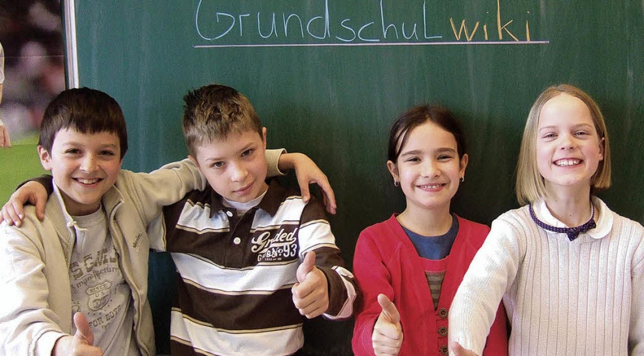 Cool:  Söldener Schüler, die  bei Grundschulwiki mitmachen    | Foto: privat