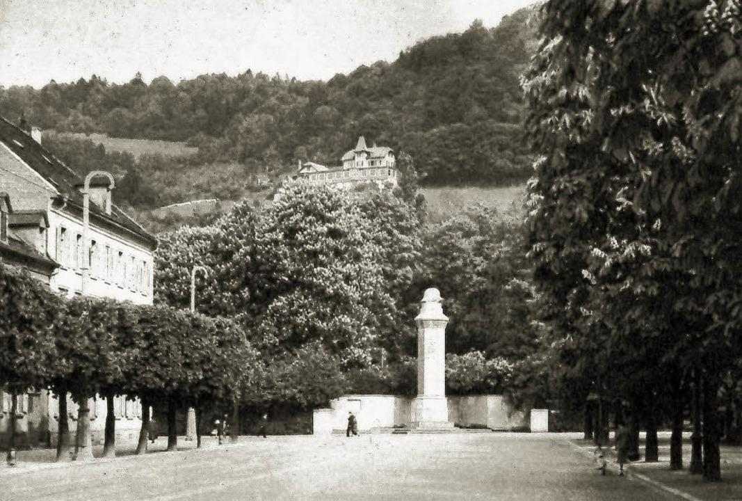 Das historische Foto zeigt die Verkehr...chlossberg das Restaurant Dattler.      | Foto: Archiv Hans Sigmund