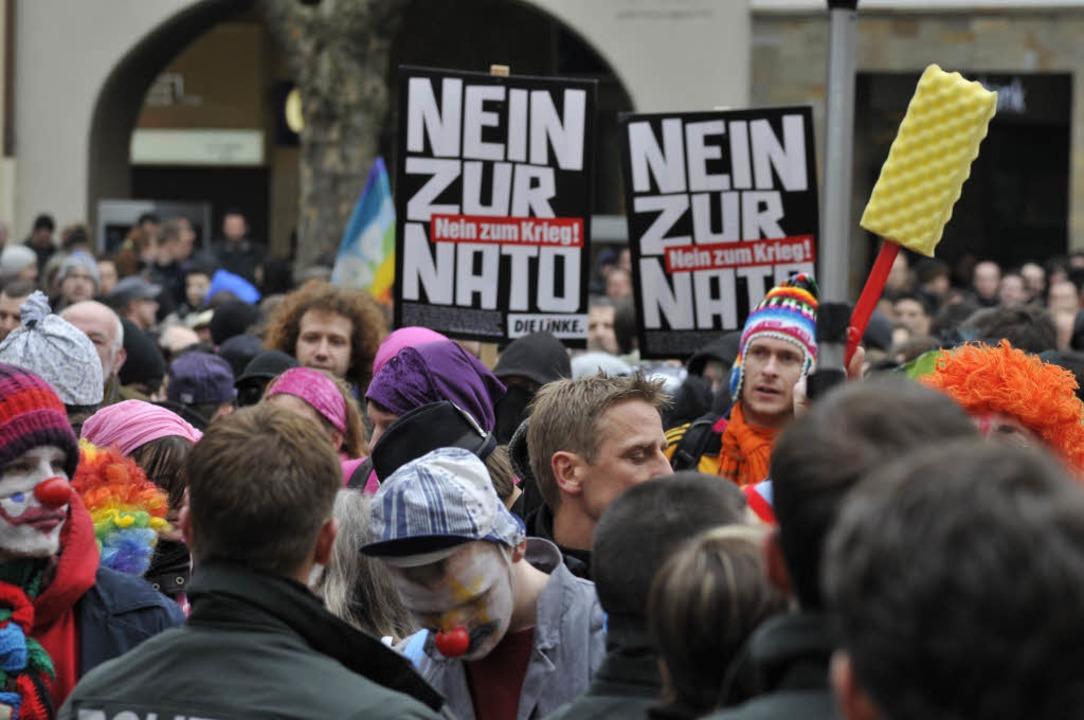 Demonstration gegen die Nato.  | Foto: Ingo Schneider