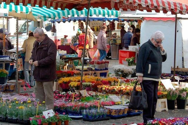 Aktionen beim Lahrer Wochenmarkt