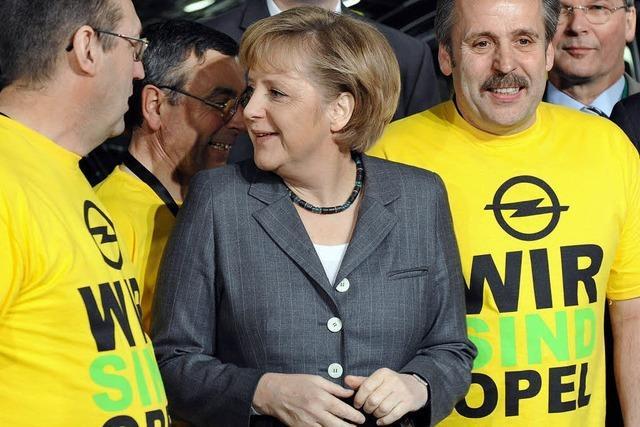 Merkel sagt Opel Hilfe zu