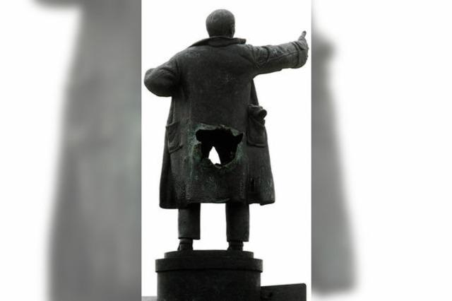 Lenin fehlt der Hintern