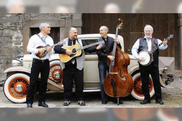 Vier Musiker haben sich ganz dem Bluegrass verschrieben