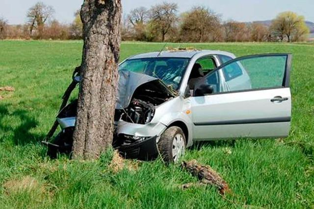 Pkw fährt gegen Baum