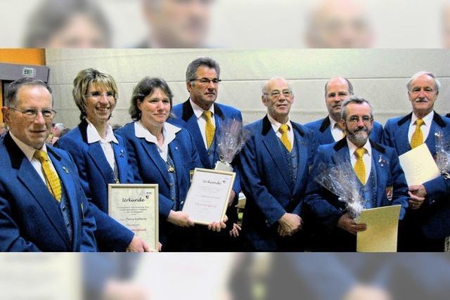 Hohe Auszeichnungen beim Musikverein Buchenbach