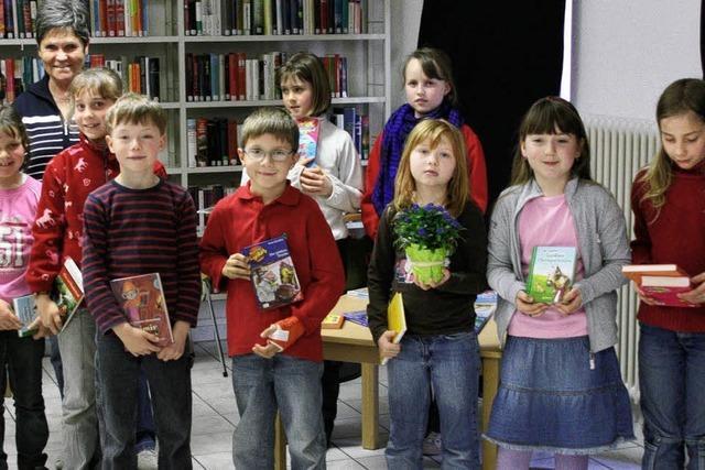 Bücherwürmer belohnt