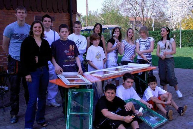 Flotte Arbeit am Jugendhaus Wyhlen