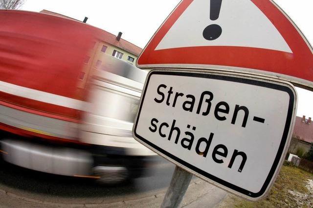 Landesstraßen in schlechtem Zustand