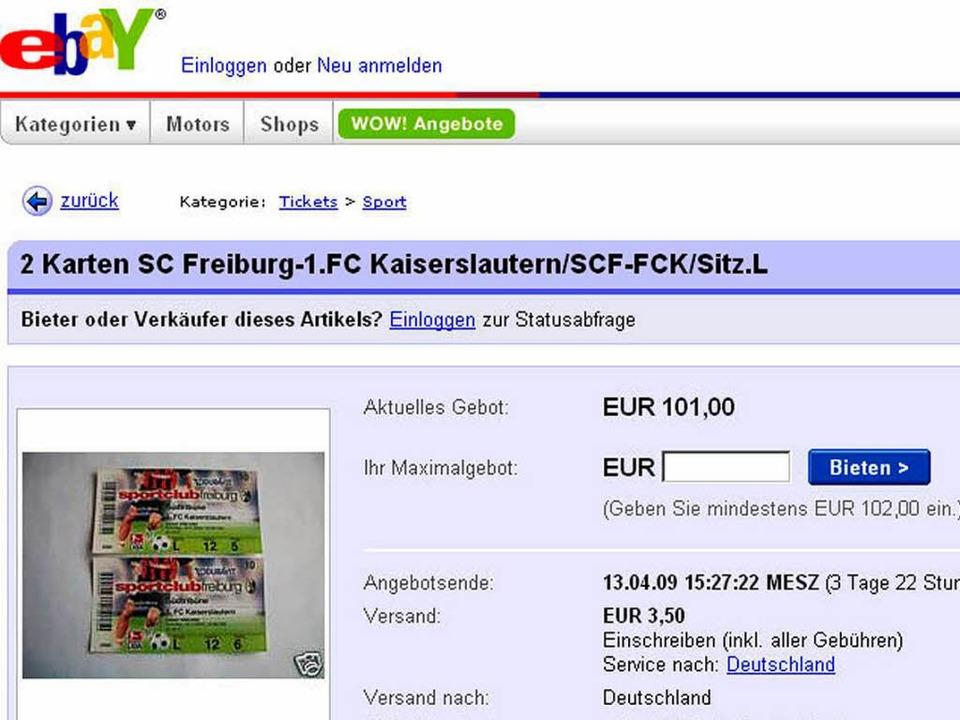 Sc Freiburg Karten.Teurer Ebay Handel Mit Sc Freiburg Tickets Sc Freiburg Badische