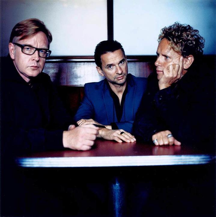 Grübelnde  Briten: Andrew Fletcher, Da...han und Martin Gore sind Depeche Mode.  | Foto: Anton Corbijn / Promo