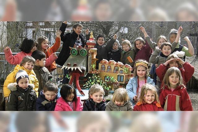 Zeller Kindergartenkinder bauten ihr Traumhaus