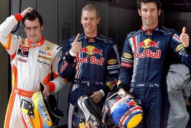 Vettel rast auf die Pole
