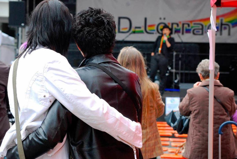 Vor der Bühne auf dem Senser Platz.  | Foto: Barbara Ruda