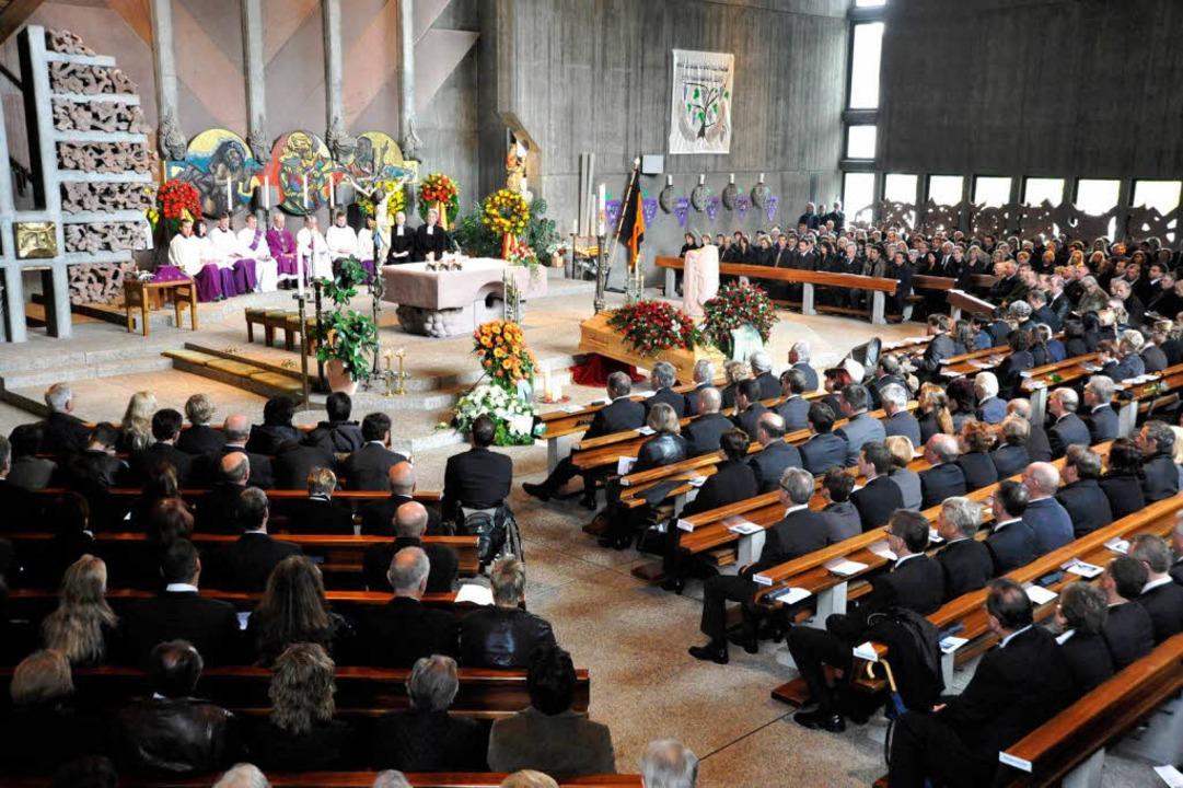 Während der Trauerfeier in der Denzlinger Jakobuskirche    Foto: Zimmermann-Duerkop