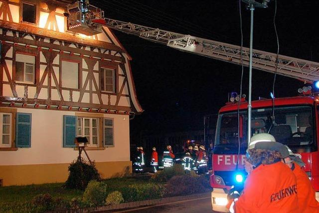 Wohnungsbrand bei Firma Holz-Bolz