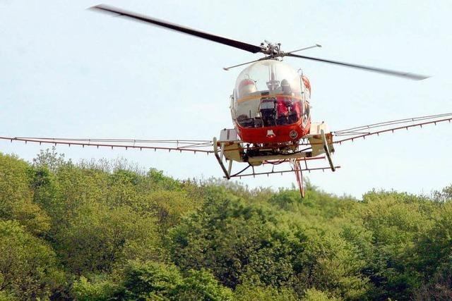 Am Mittwoch fliegt der Hubschrauber