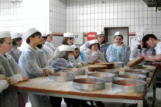Jungmusiker erkundeten Bäckerei