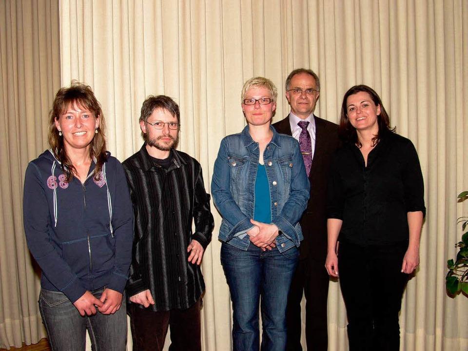 <Bildtext>Die Preisträger (von links) ... Rümmele,  Carolyn Oesterle</Bildtext>  | Foto: Silke Hartenstein