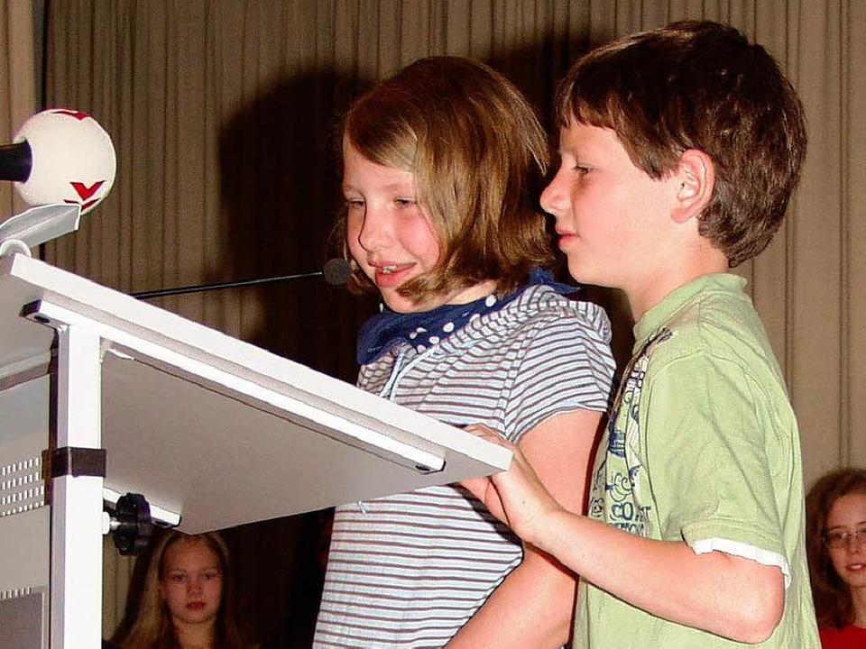 <Bildtext>Vier Schulklassen gewannen i...&quot; Anerkennungspreise. </Bildtext>  | Foto: Silke Hartenstein
