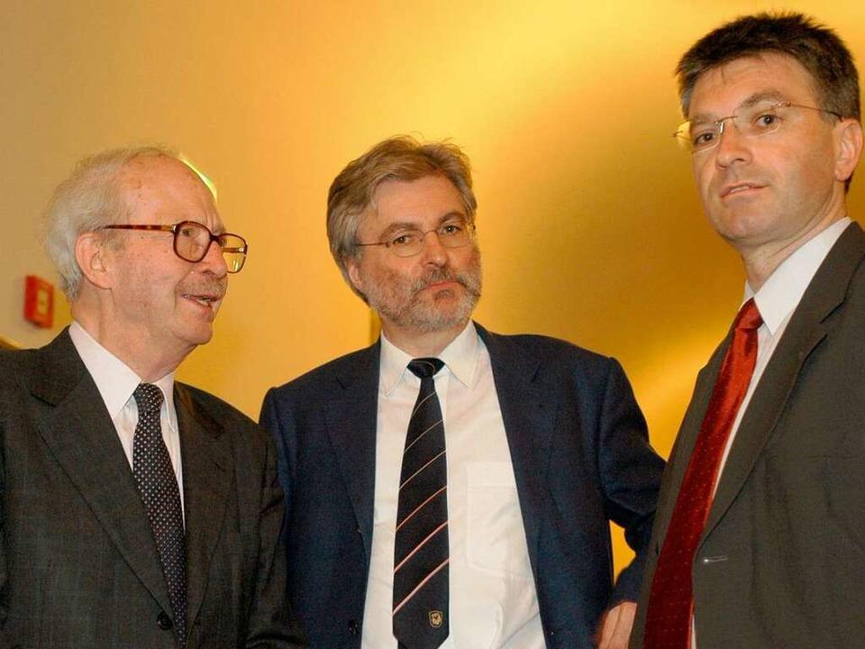 Archivfoto aus dem Jahr 2004: Ralf Dah...urgs Oberbürgermeister Dieter Salomon.  | Foto: Ingo Schneider