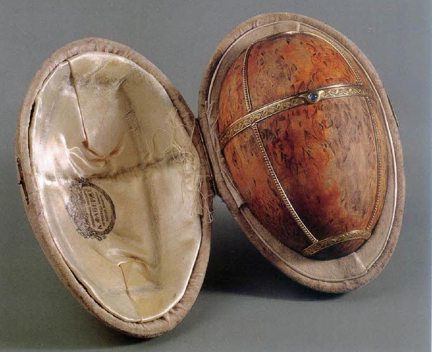 Erreichte den Zaren nicht  mehr: das Birken-Ei    Foto: Katalog